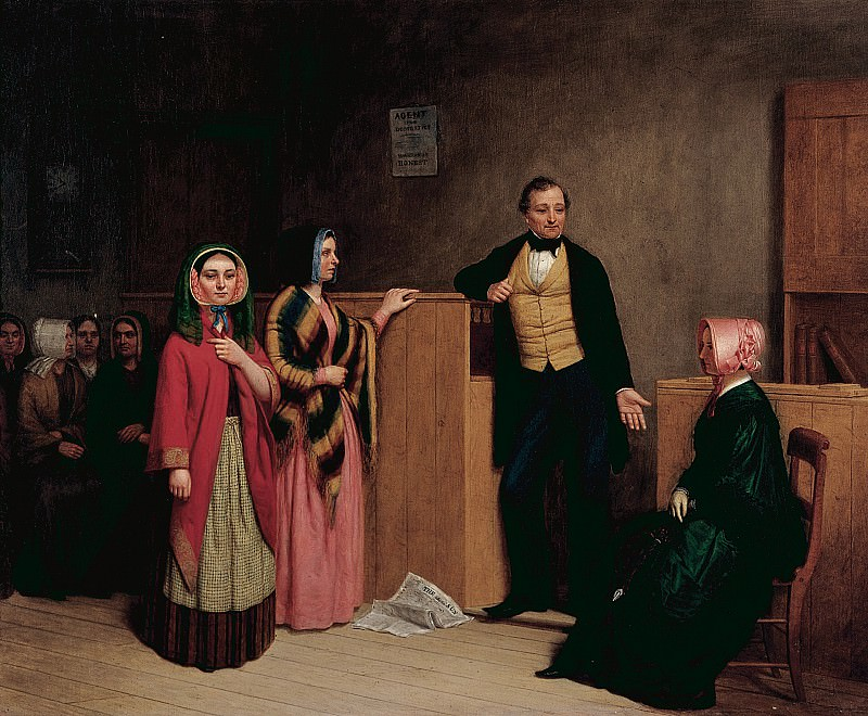 William Henry Burr (1819-1908) - The Intelligence Office (1849 Collection of The New-York Historical Society). part 2 American painters