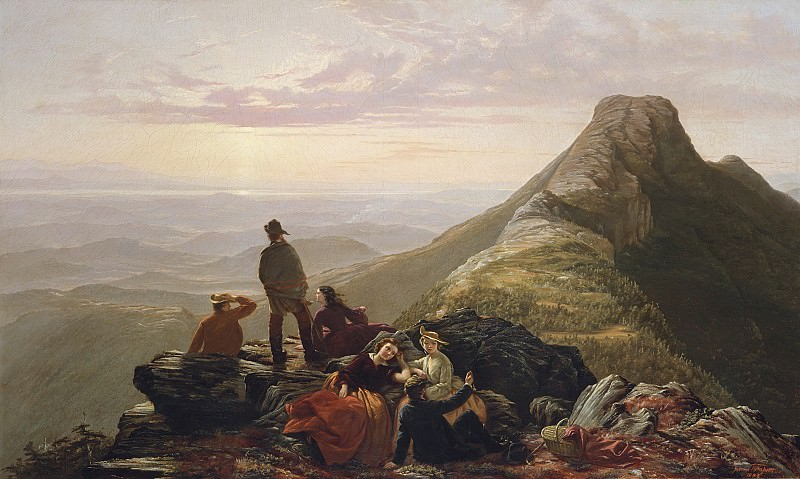 Jerome B. Thompson (1814-1886) - The Belated Party on Mansfield Mountain (1858 The Metropolitan Museum of Art). part 2 American painters