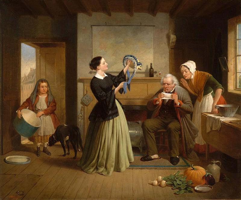 Франсис Вильям Эдмондс (1806-1863) - Новая шляпка. часть 2 Американские художники
