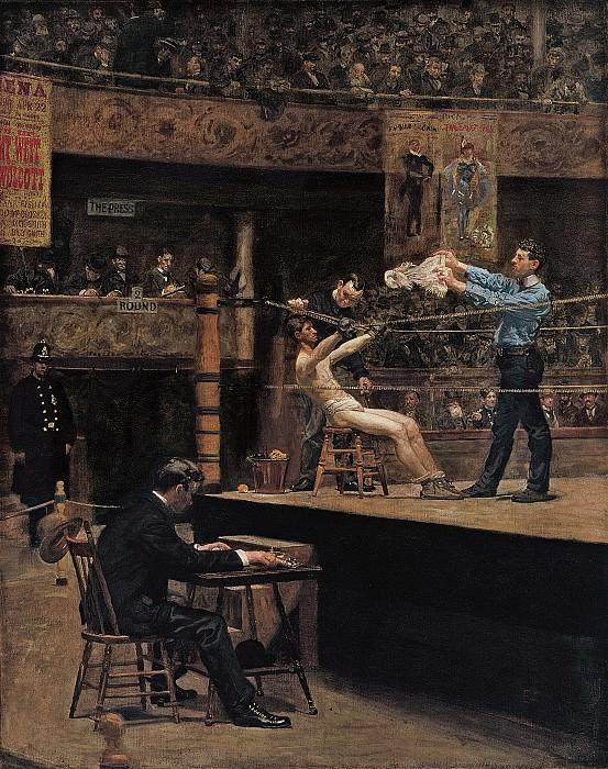 Thomas Eakins (1844-1916) - Between Rounds (1898-99 Philadelphia Museum of Art). part 2 American painters