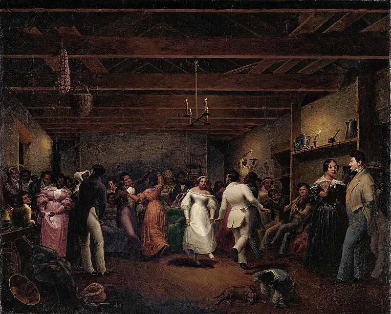 Christian Friedrich Mayr (1803-1851) - Kitchen Ball at White Sulphur Springs, Virginia (1838 North Carolina Museum of Art). part 2 American painters