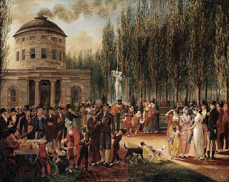 John Lewis Krimmel (American, b. Germany, 1786-1821) - Fourth of July in Centre Square, 1812 (Pennsylvania Academy of the Fine Arts, Philadelphia). part 2 American painters