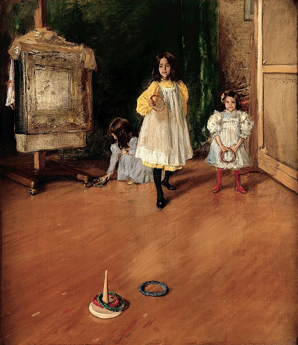William Merritt Chase (1849-1916) - Ring Toss (1896 Marie and Hugh Halff). part 2 American painters