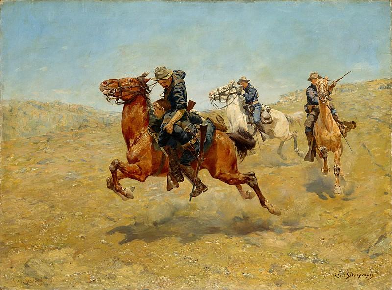 Charles Schreyvogel (1861-1912) - My Bunkie (1899 The Metropolitan Museum of Art). part 2 American painters