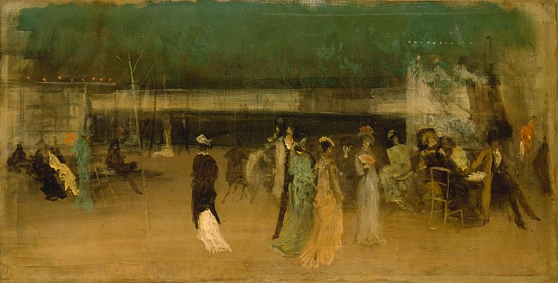 James McNeill Whistler (1834-1903) - Cremorne Gardens, No. 2 (1872-77 The Metropolitan Museum of Art). part 2 American painters