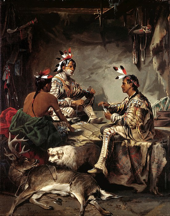John Mix Stanley (1814-1872) - Gambling for the Buck (1867 Stark Museum of Art). part 2 American painters