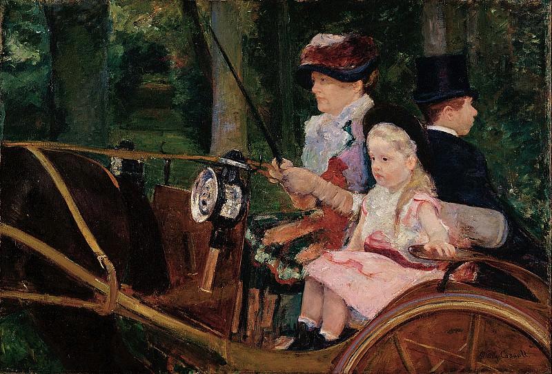 Мэри Кассат (1844-1926) - Женщина с ребёнком, управляющая повозкой. часть 2 Американские художники