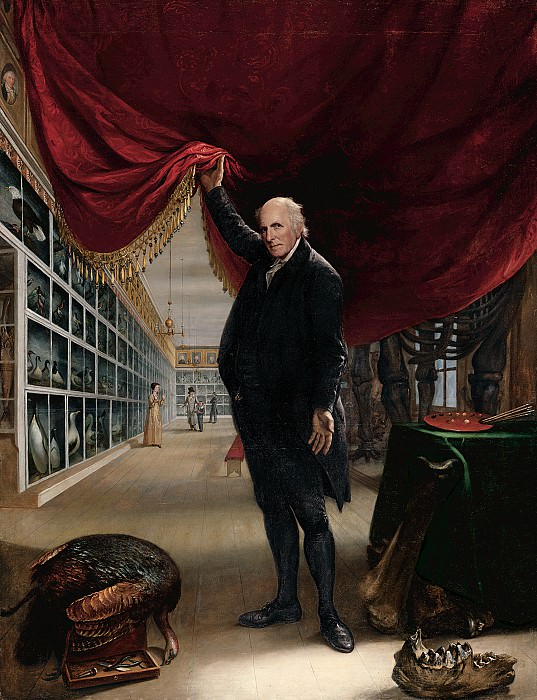 Charles Willson Peale (1741-1827) - The Artist in His Museum, 1822 (Pennsylvania Academy of the Fine Arts, Philadelphia). part 2 American painters