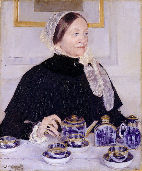Mary Cassatt (1844-1926) - Lady at the Tea Table (1883-85 The Metropolitan Museum of Art). part 2 American painters