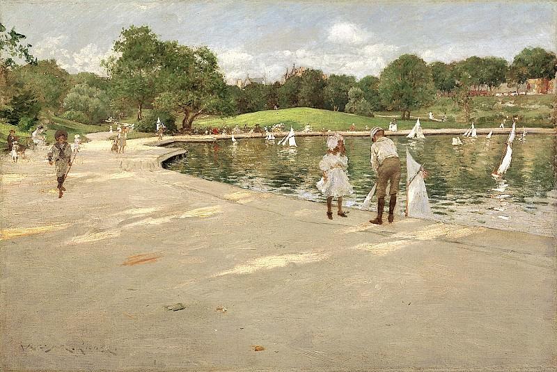 Вильям Меррит Чейз (1849-1916) - Озеро для игрушечных яхт. часть 2 Американские художники