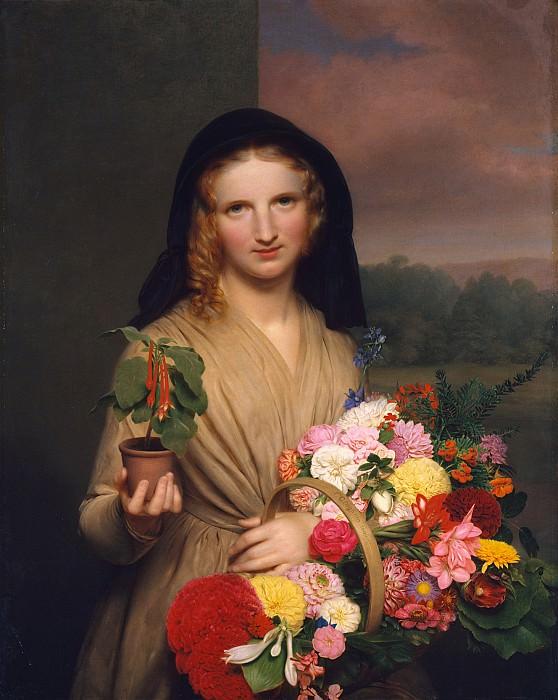 Charles Cromwell Ingham (1796-1863) - The Flower Girl (1846 The Metropolitan Museum of Art). part 2 American painters