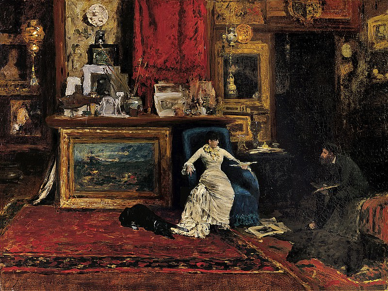 William Merritt Chase (1849-1916) - The Tenth Street Studio (1880 Saint Louis Art Museum). part 2 American painters