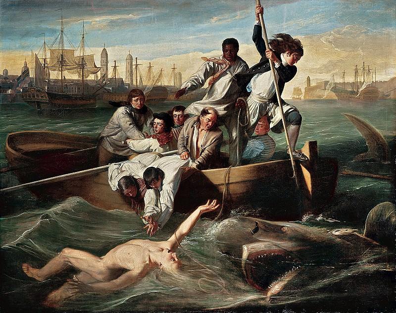 John Singleton Copley (1738-1815) - Watson and the Shark, 1778 (National Gallery of Art, Washington, D. C.). part 2 American painters