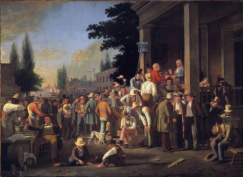 George Caleb Bingham (1811-1879) - The County Election (1851-52 Saint Louis Art Museum). part 2 American painters