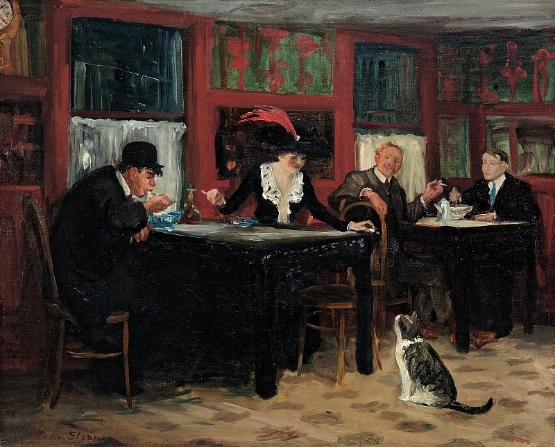 John Sloan (1871-1951) - Chinese Restaurant (1909 Memorial Art Gallery of the University of Rochester). part 2 American painters