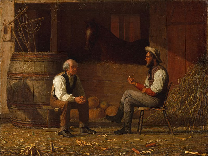 Enoch Wood Perry (1831-1915) - Talking it Over (1872 The Metropolitan Museum of Art). part 2 American painters