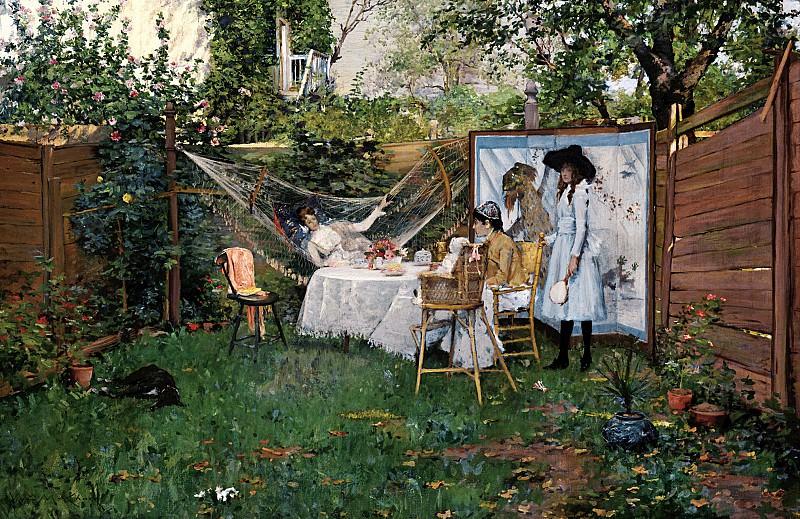 William Merritt Chase (1849-1916) - The Open Air Breakfast (ca. 1887 Toledo Museum of Art). part 2 American painters
