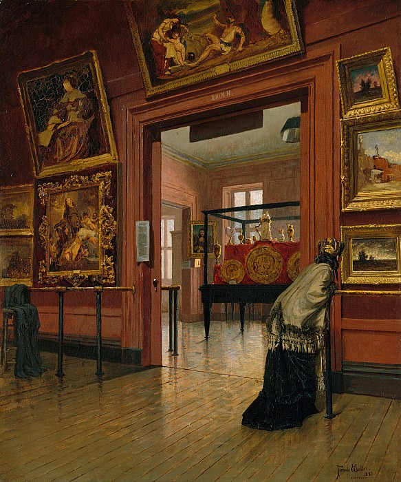 Frank Waller (1842-1923) - Interior View of The Metropolitan Museum of Art when in Fourteenth Street (1881 The Metropolitan Museum of Art). part 2 American painters
