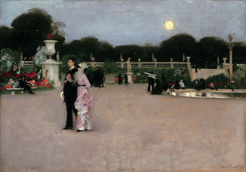 John Singer Sargent (1856-1925) - In the Luxembourg Gardens (1879 Philadelphia Museum of Art). part 2 American painters