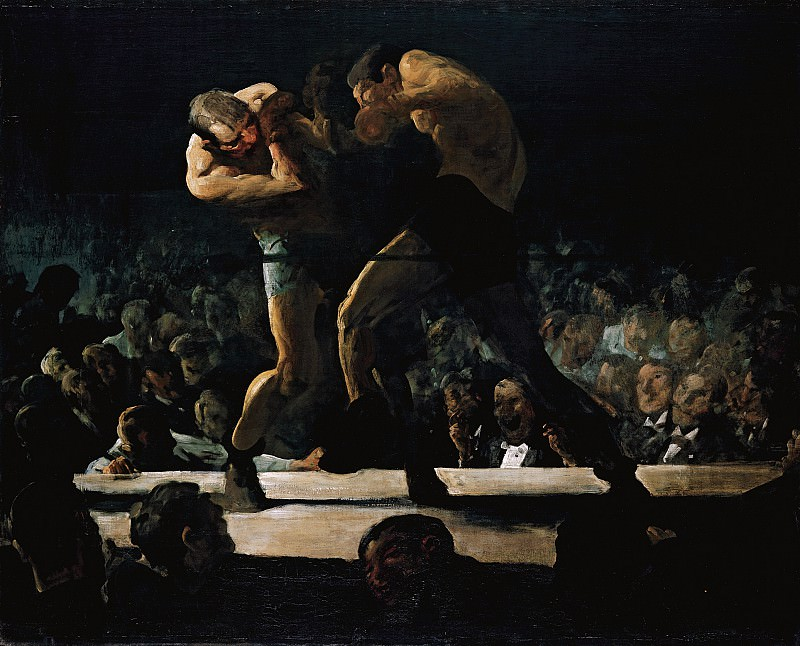 George Bellows (1882-1925) - Club Night (1907 National Gallery of Art). part 2 American painters