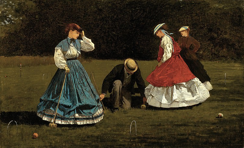 Winslow Homer (1836-1910) - Croquet Scene (1866 The Art Institute of Chicago). part 2 American painters