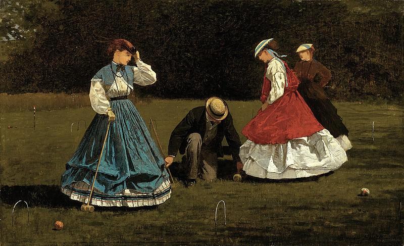 Винслоу Хомер (1836-1910) - Сценка во время игры в крокет. часть 2 Американские художники