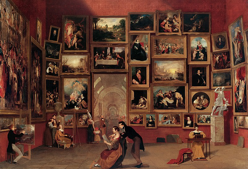 Samuel F. B. Morse (1791-1872) - Gallery of the Louvre, 1831-33 (Terra Foundation for American Art, Chicago). part 2 American painters