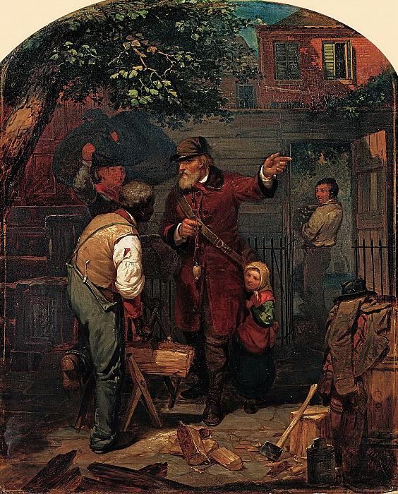 Charles Felix Blauvelt (1824-1900) - A German Immigrant Inquiring His Way (1855 North Carolina Museum of Art). part 2 American painters