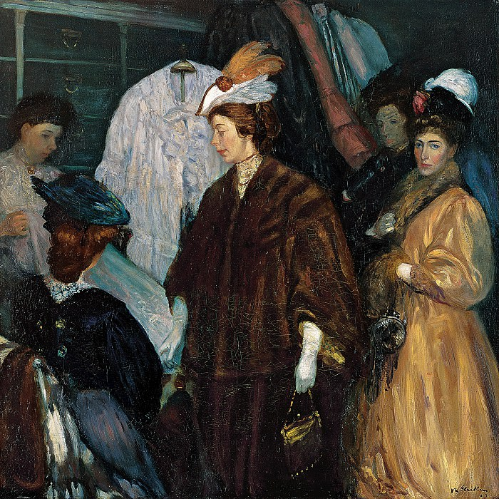 William Glackens (1870-1938) - The Shoppers (1907-8 Chrysler Museum of Art). part 2 American painters