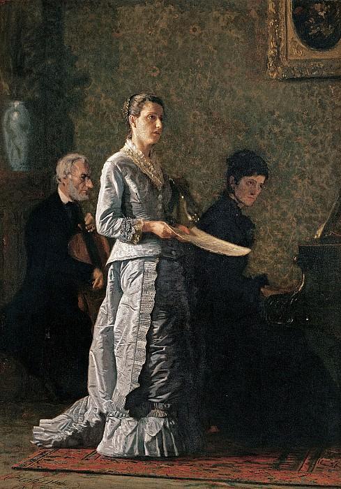 Thomas Eakins (1844-1916) - Singing a Pathetic Song (1881 Corcoran Gallery of Art). part 2 American painters