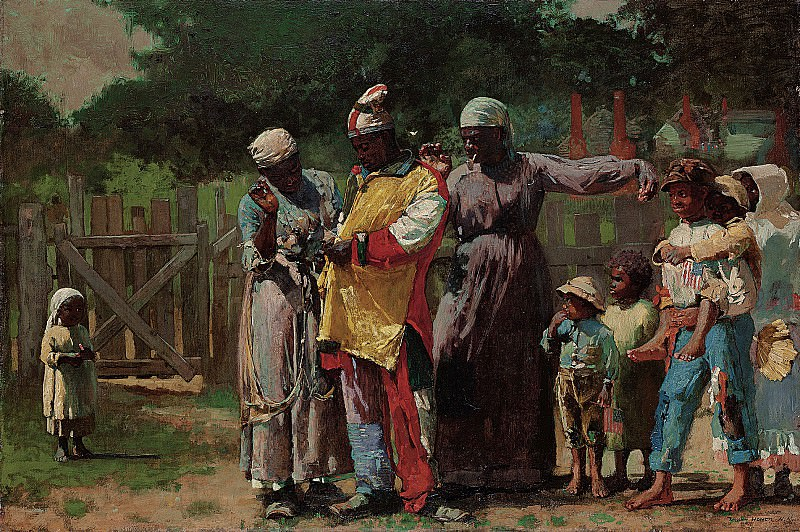 Winslow Homer (1836-1910) - Dressing for the Carnival (1877 The Metropolitan Museum of Art). part 2 American painters