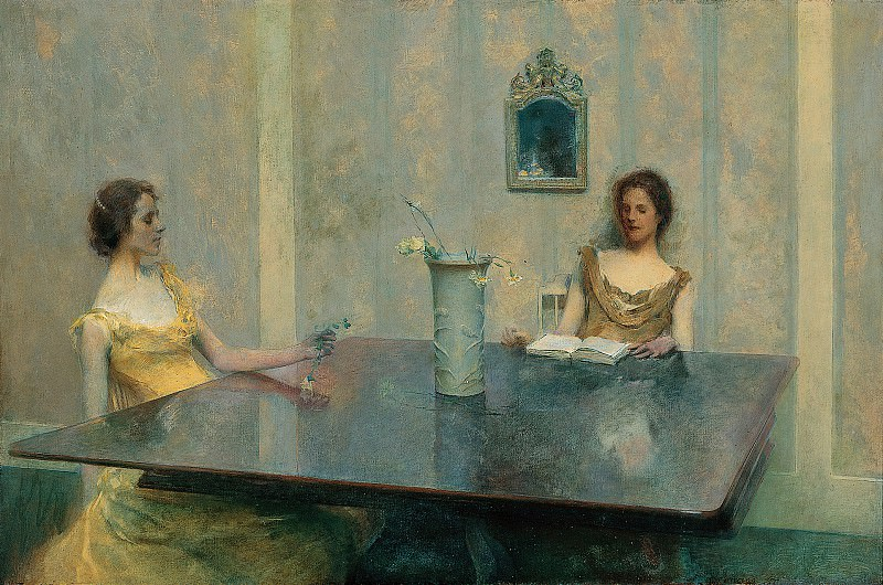 Thomas Wilmer Dewing (1851-1938) - A Reading (1897 Smithsonian American Art Museum). part 2 American painters