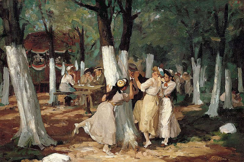 John Sloan (1871-1951) - The Picnic Grounds (1906-7 Whitney Museum of American Art). part 2 American painters