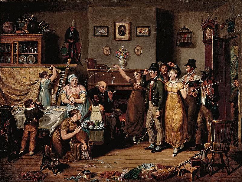 John Lewis Krimmel (American, b. Germany, 1786-1821) - The Quilting Frolic, 1813 (Winterthur Museum). part 2 American painters