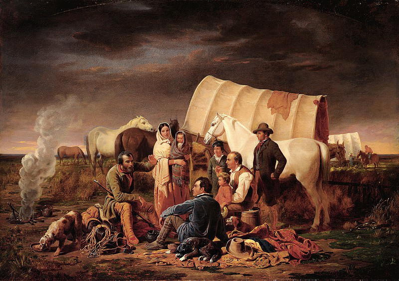 William Tylee Ranney (1813-1857) - Advice on the Prairie (ca. 1853 Buffalo Bill Historical Center). part 2 American painters