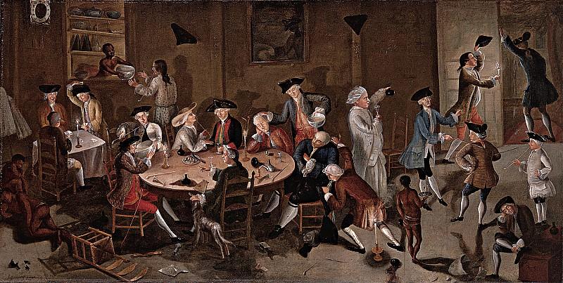 John Greenwood (1727-1792) - Sea Captains Carousing in Surinam, ca. 1752-58 (Saint Louis Art Museum). part 2 American painters