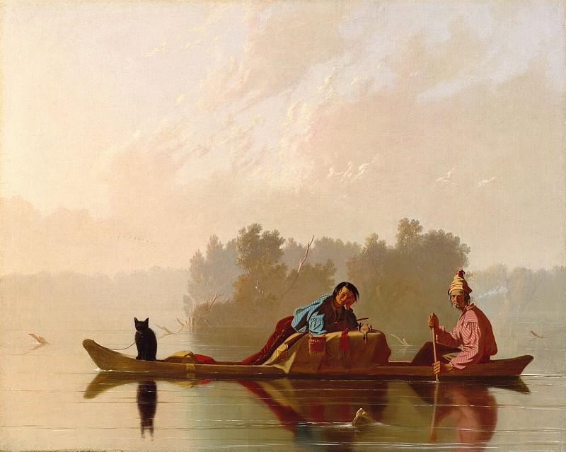 George Caleb Bingham (1811-1879) - Fur Traders Descending the Missouri (1845 The Metropolitan Museum of Art). part 2 American painters