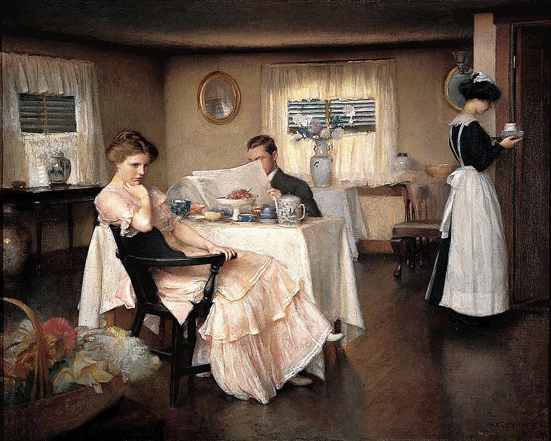 Вильям Макгрегор Пэкстон (1869-1941) - Завтрак (1911, Тэд Слейвин). часть 2 Американские художники