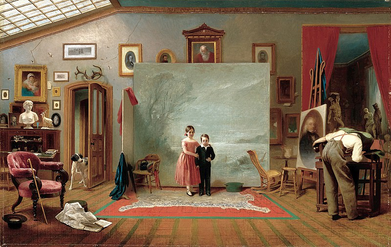 Thomas Le Clear (1818-1882) - Interior with Portraits (ca. 1865 Smithsonian American Art Museum). part 2 American painters