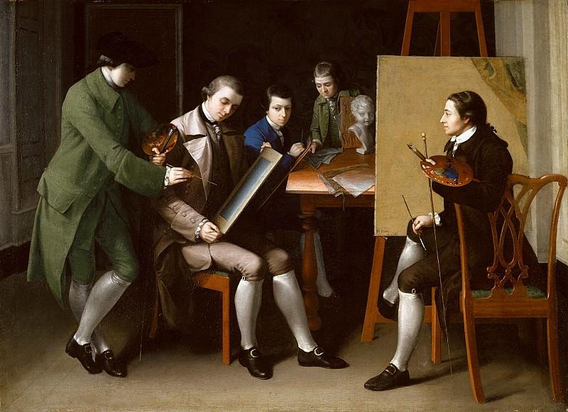 Matthew Pratt (1734-1805) - The American School, 1765 (The Metropolitan Museum of Art, New York). part 2 American painters