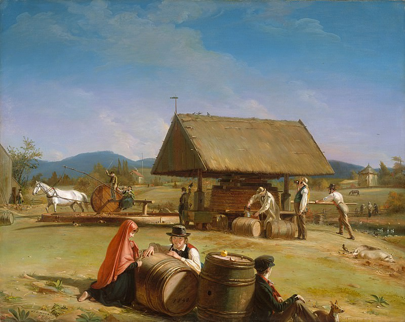 William Sidney Mount (1807-1868) - Cider Making (1840-41 The Metropolitan Museum of Art). part 2 American painters