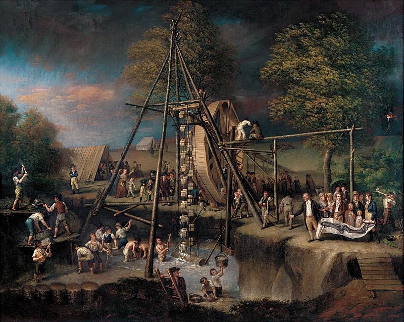 Пили, Чарльз Вилсон (1741-1827) - Эксгумация мастодонта, 1805-8. часть 2 Американские художники
