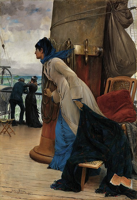 Henry Bacon (1839-1912) - First Sight of Land (1877 In the collection of Art and Elaine Baur). part 2 American painters