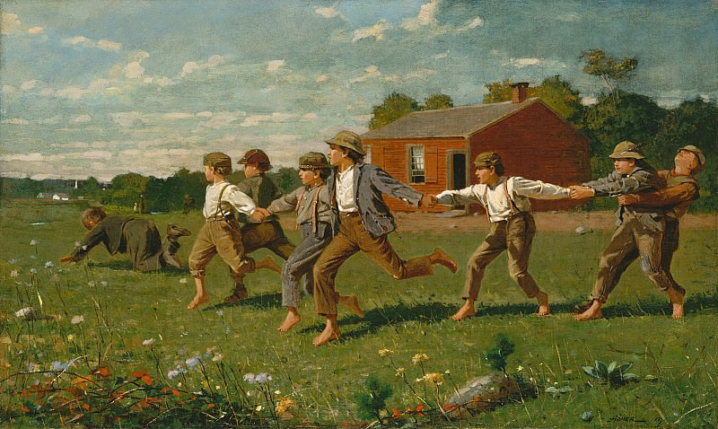 Winslow Homer (1836-1910) - Snap the Whip (1872 The Metropolitan Museum of Art). part 2 American painters