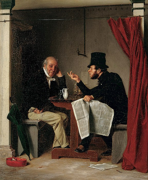 Richard Caton Woodville (1825-1855) - Politics in an Oyster House (1848 The Walters Art Museum). part 2 American painters
