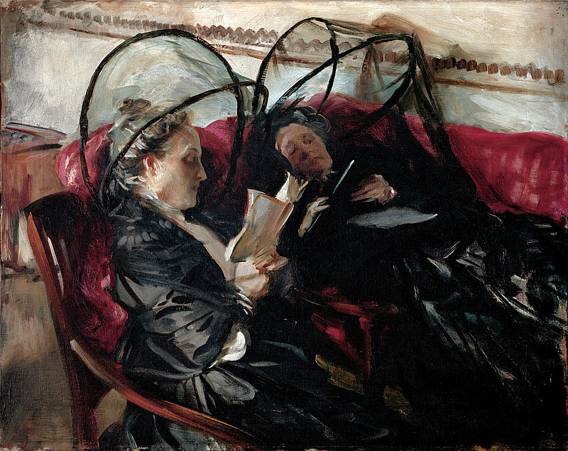 John Singer Sargent (1856-1925) - Mosquito Nets (1908 The Detroit Institute of Arts). part 2 American painters