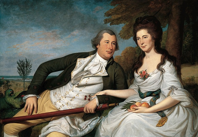 Charles Willson Peale (1741-1827) - Benjamin and Eleanor Ridgely Laming, 1788 (National Gallery of Art, Washington, D. C.). part 2 American painters