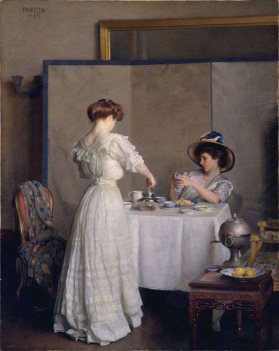 William McGregor Paxton (1869-1941) - Tea Leaves (1909 The Metropolitan Museum of Art). part 2 American painters