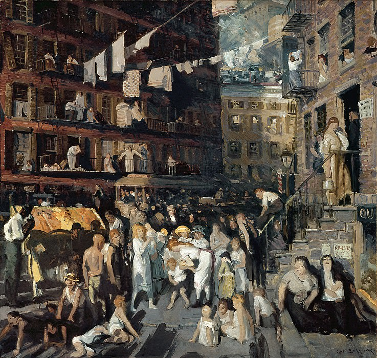George Bellows (1882-1925) - Cliff Dwellers (1913 Los Angeles County Museum of Art). part 2 American painters
