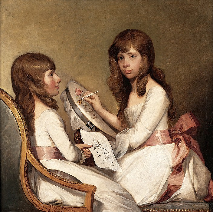 Gilbert Stuart (American, (1755-1828) - Anna Dorothea Foster and Charlotte Anna Dick, 1790-91 (Private Collection). part 2 American painters